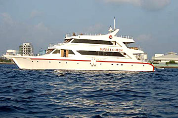 Sunset Queen Luxury yacht safari boat Maldives